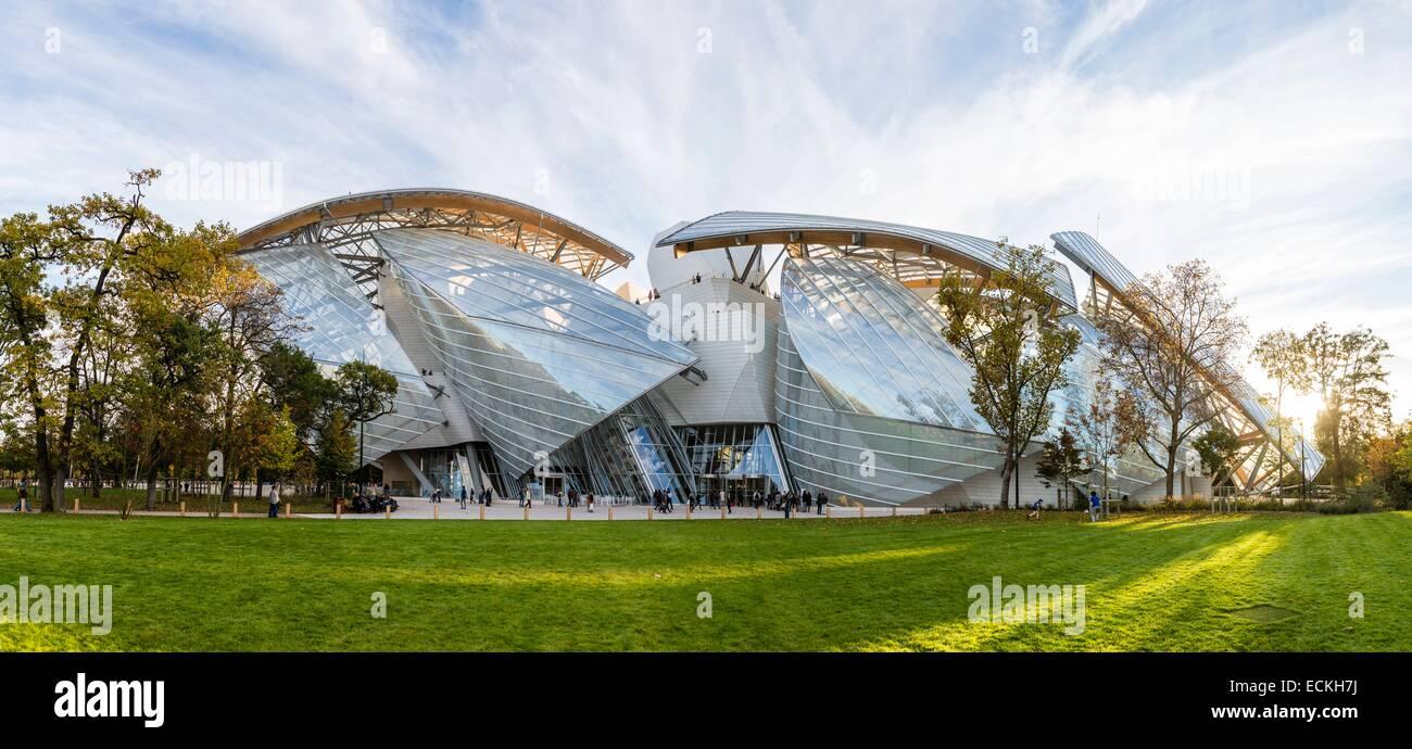 France, Paris, Bois de Boulogne, the Louis Vuitton Foundation by Stock Photo,