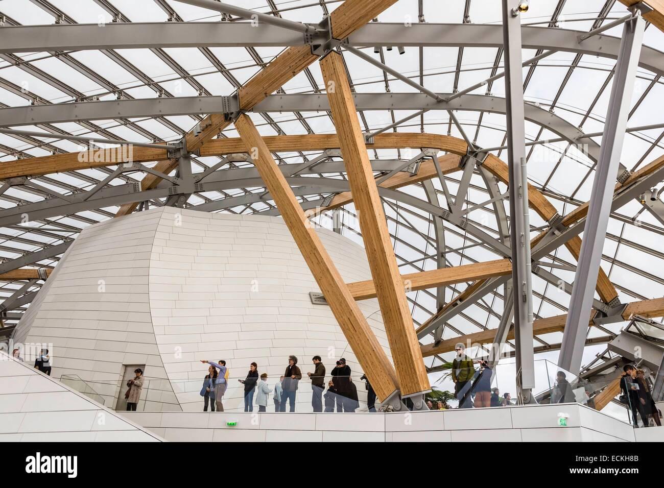 France, Paris, Bois de Boulogne, Louis Vuitton Foundation by Stock Photo, Roy