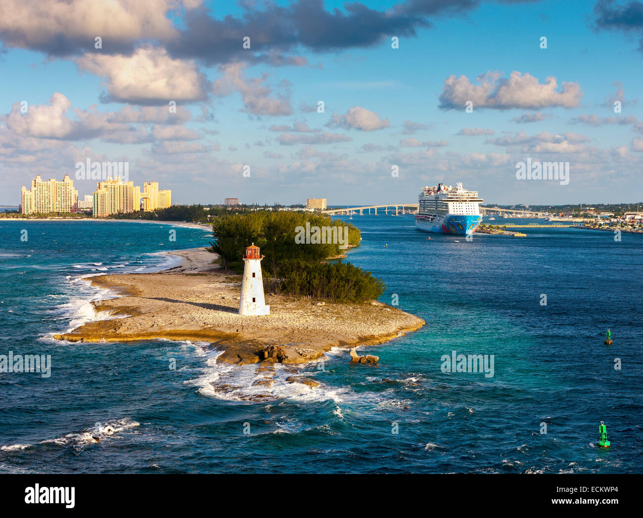 Scenic View Of Nassau Bahamas Nassau Located On New Providence - Where is the bahamas located