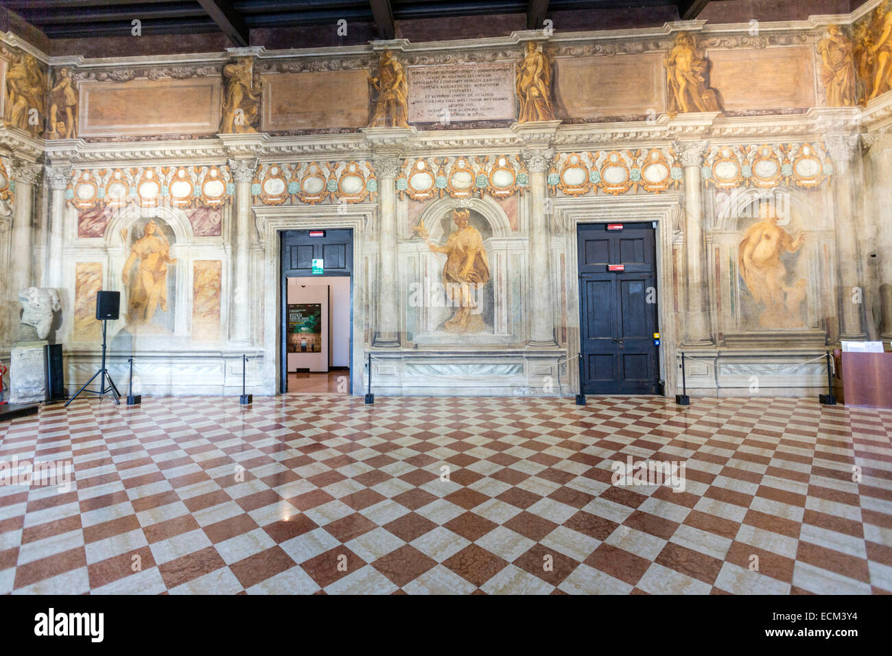 Amazing hall before the teatro olimpico olympic theatre in vicenza design by the italian - Interior design vicenza ...