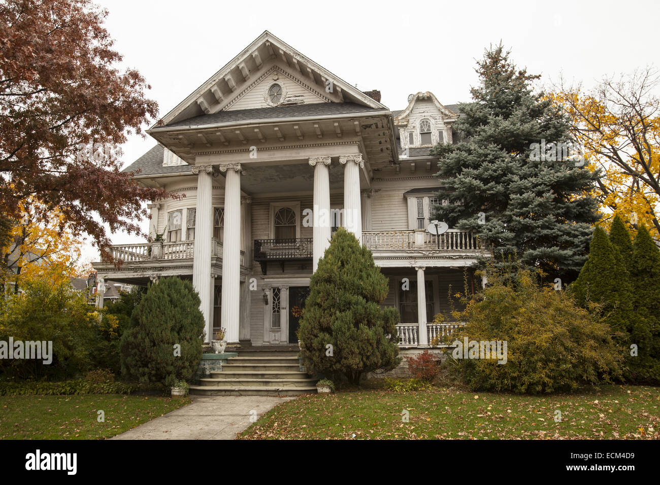 Old rambling victorian style house in ditmas park brooklyn ny
