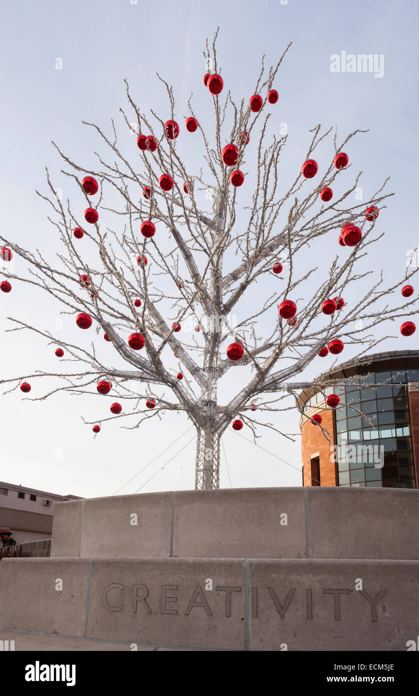 A non-traditional Christmas Tree in downtown Brampton, Ontario ...