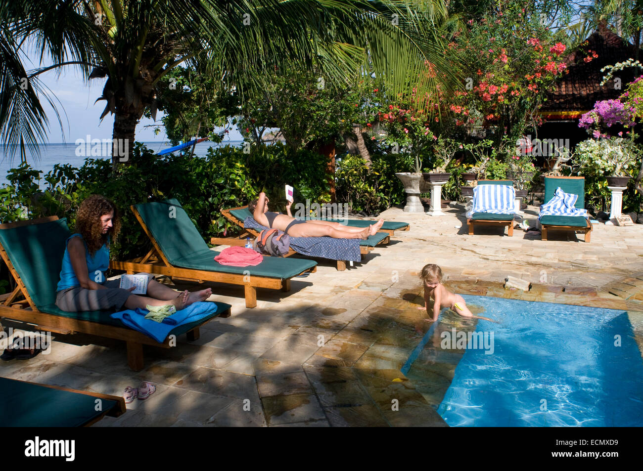 Swimming Pool Of Bali Dream House Hotel Amed Bali Bali Dream Stock Photo Royalty Free Image