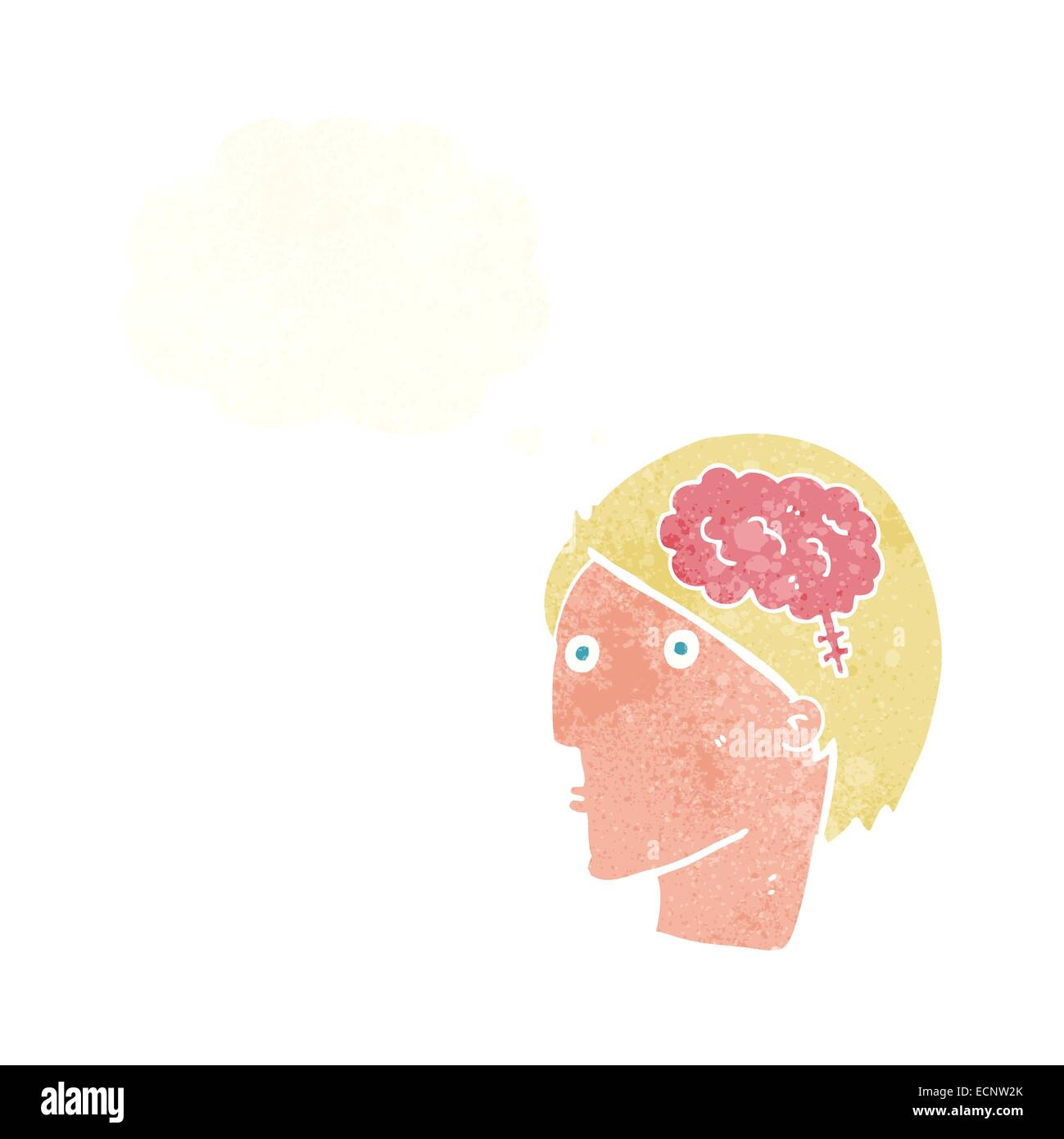 Cartoon man with brain symbol with thought bubble stock vector art cartoon man with brain symbol with thought bubble biocorpaavc Images