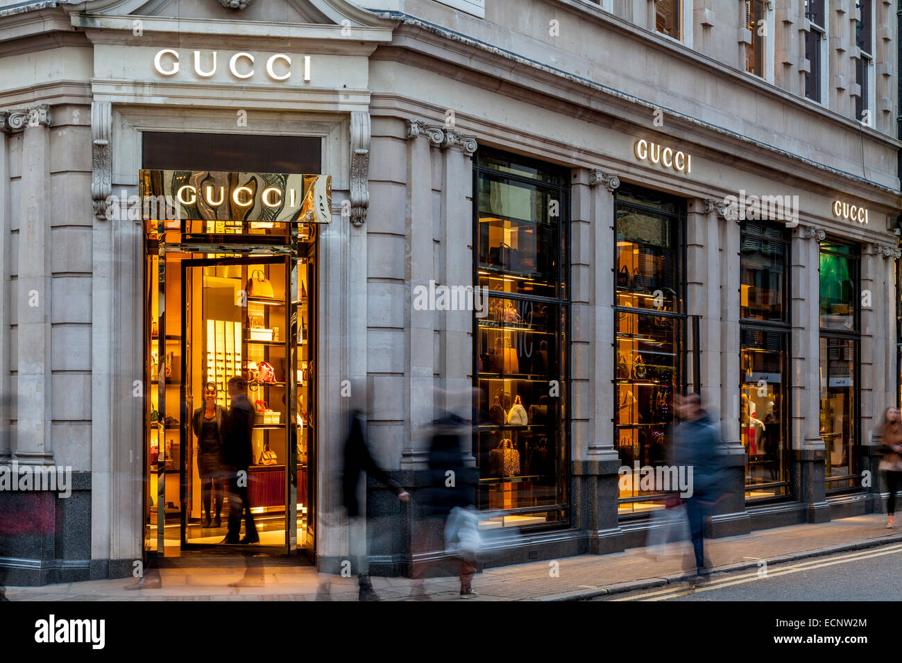 the gucci store in old bond street london england stock photo 76698012 alamy. Black Bedroom Furniture Sets. Home Design Ideas