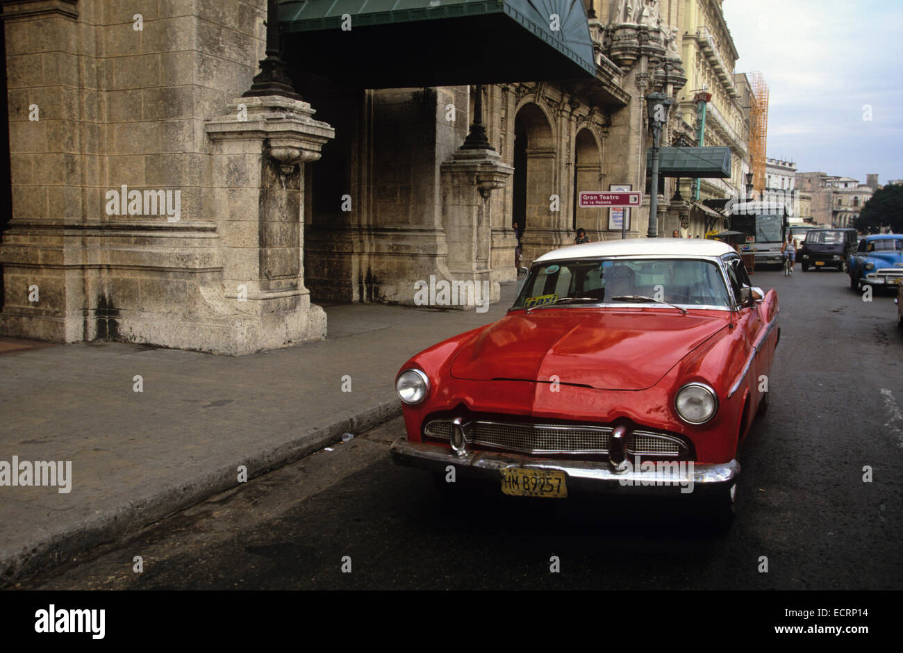 stock photo vintage american cars from the 1940s and 50s still roam the streets of havana cuba