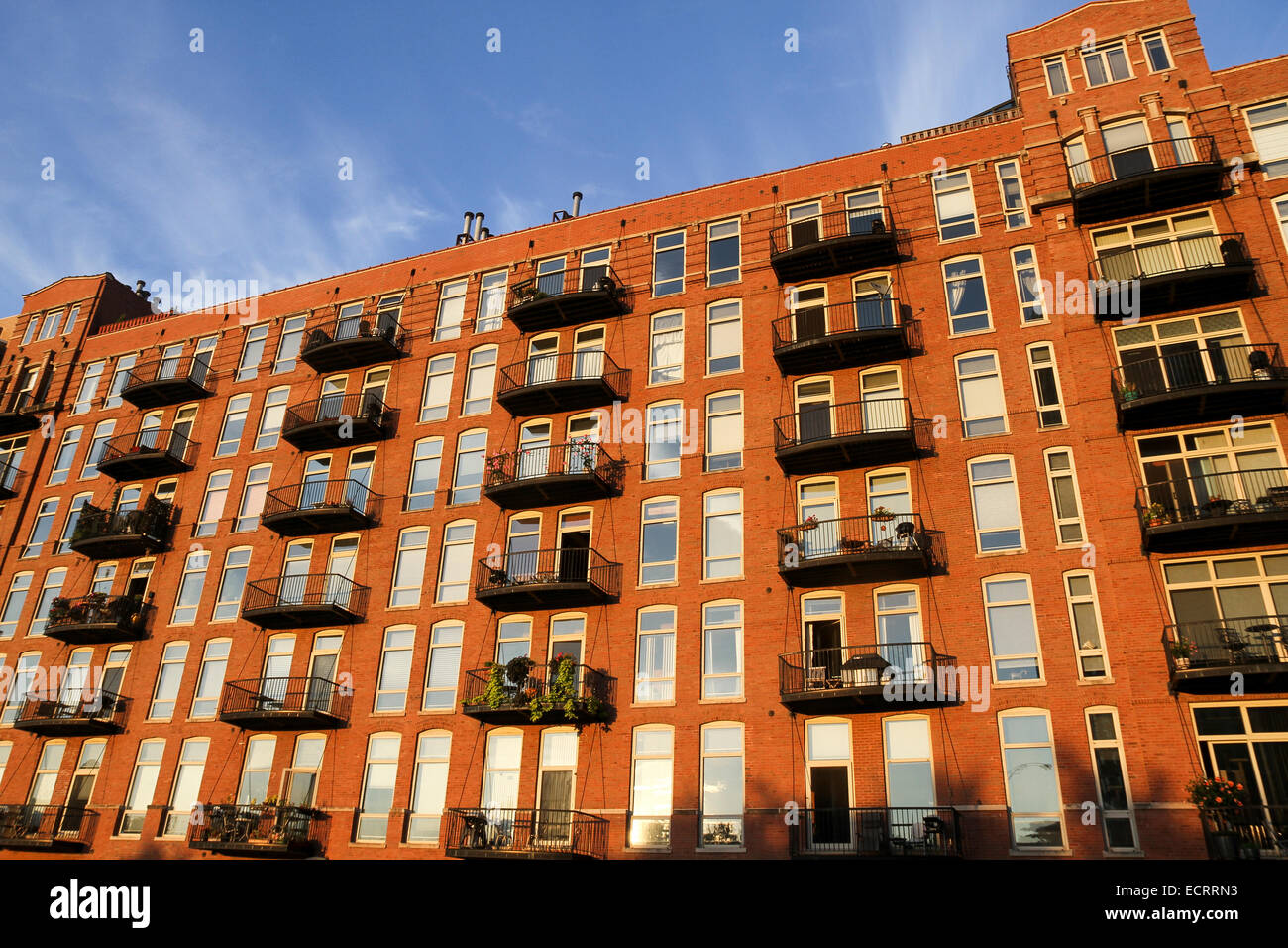 Amazing A Brick Apartment Building Along The Chicago River, Chicago, Illinois,  United States   Part 28