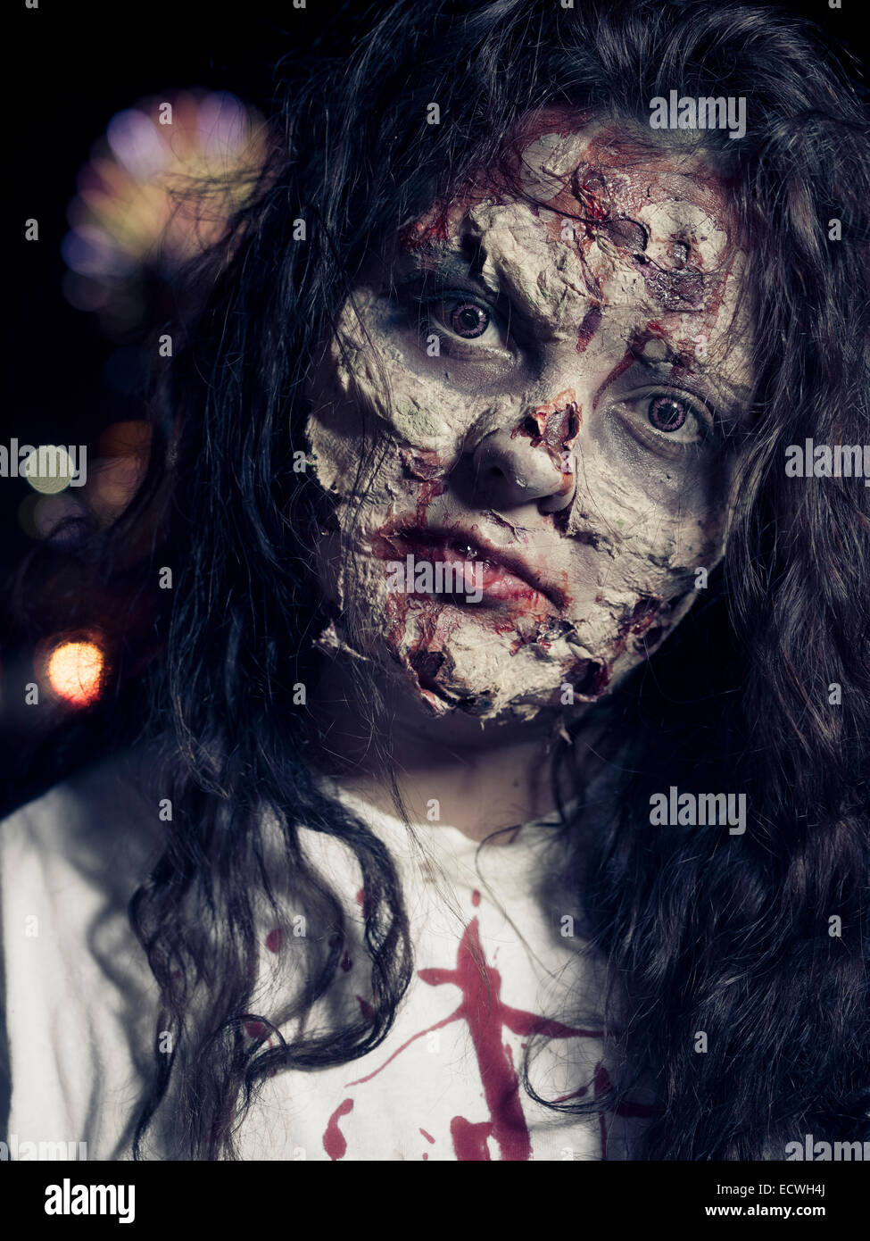 stock photo zombie halloween costume with impressive special effects makeup - Halloween Effects Makeup