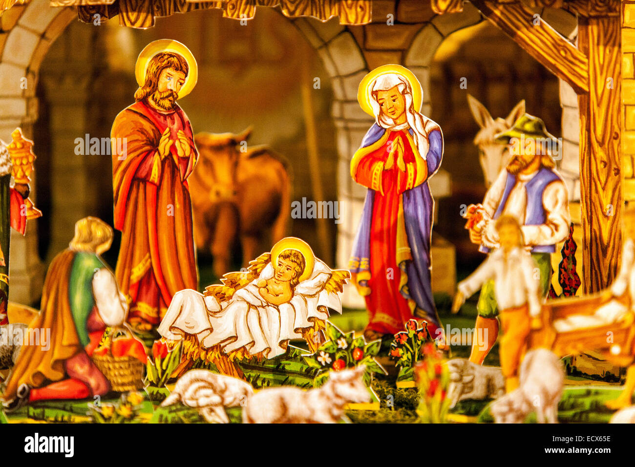traditional czech christmas nativity scene scenes from the birth