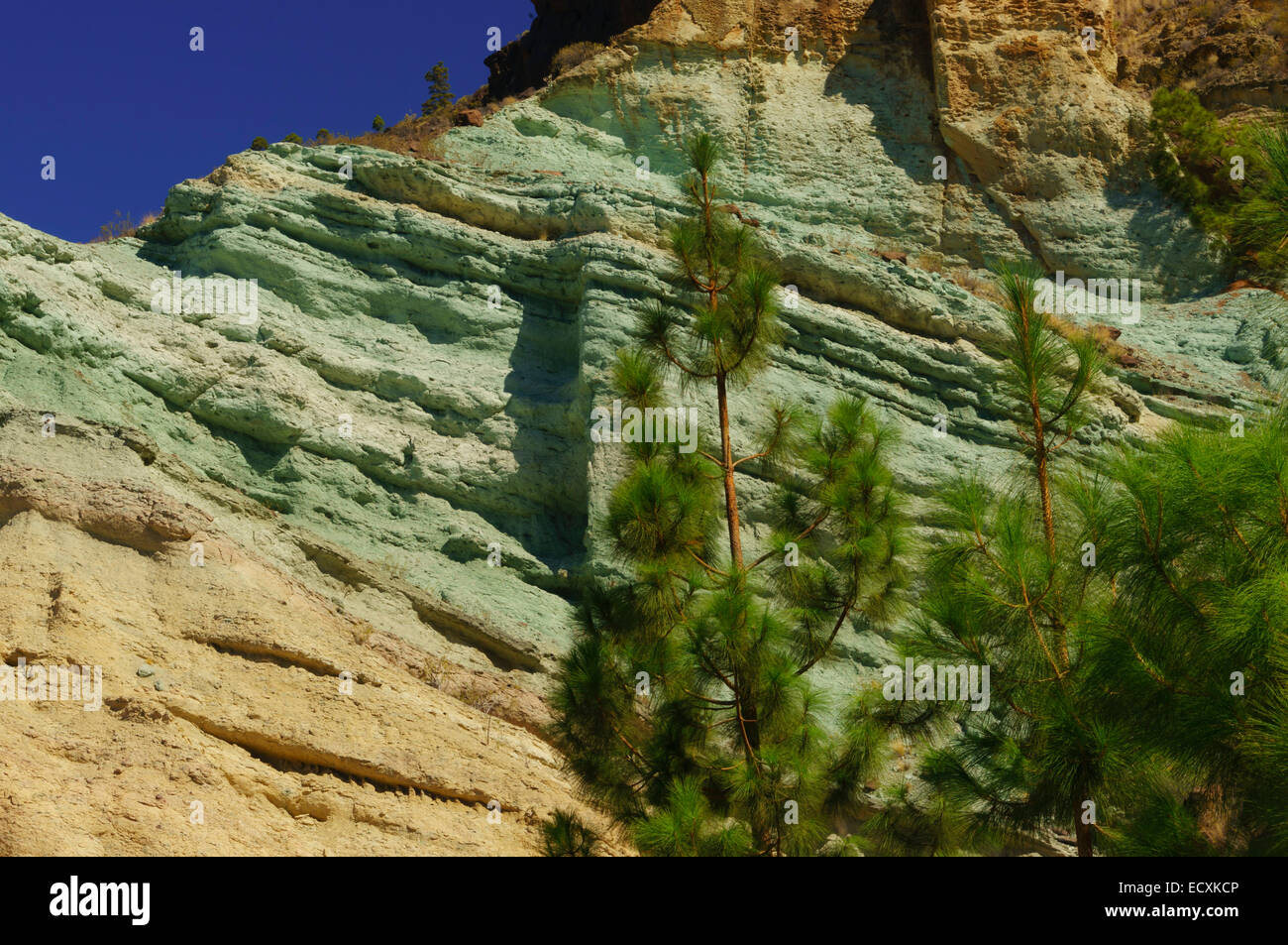 Gran canaria fuente de los azulejos coloured rocks for Fuente de los azulejos