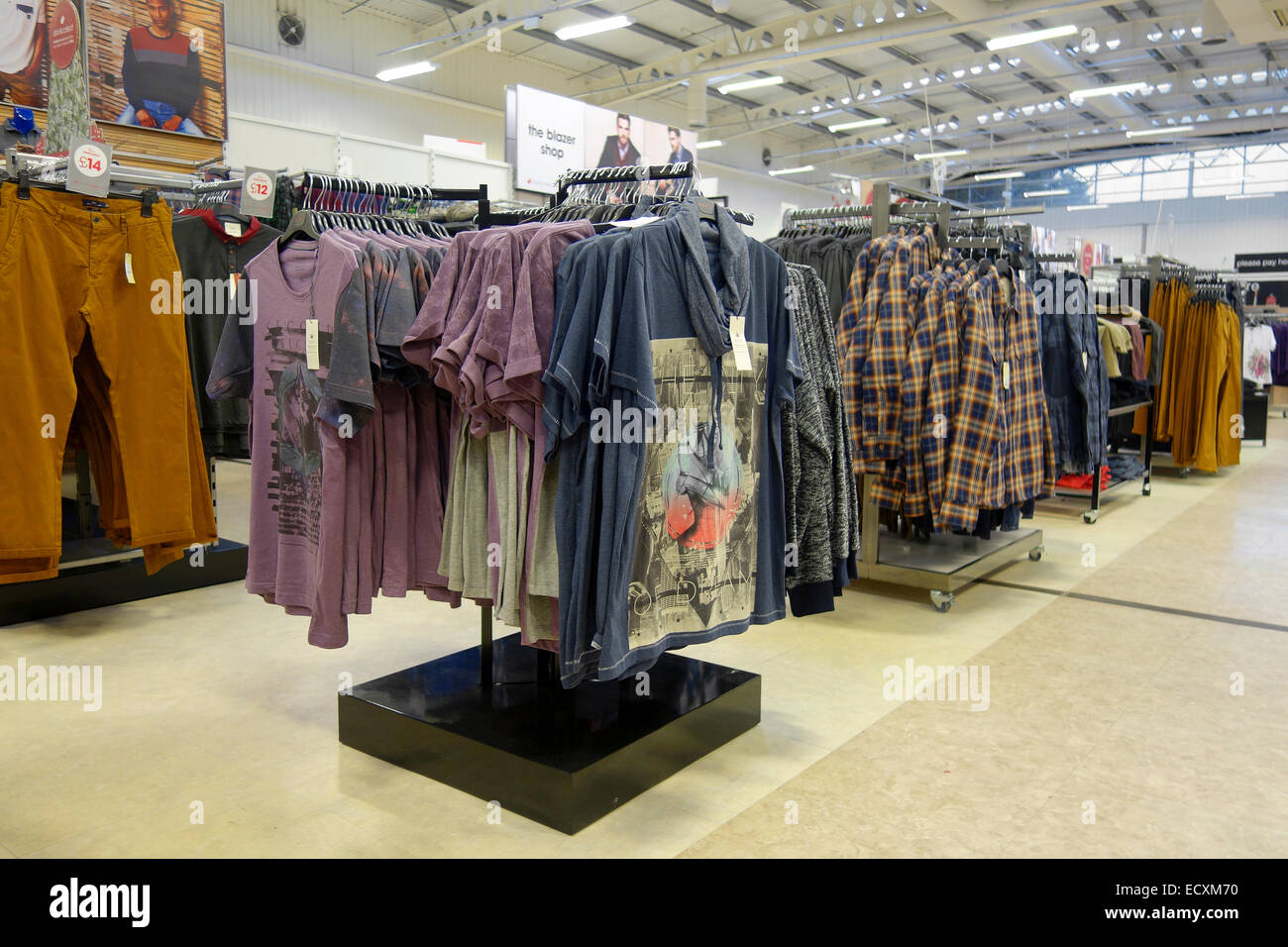 mens clothing department in a matalan store uk stock