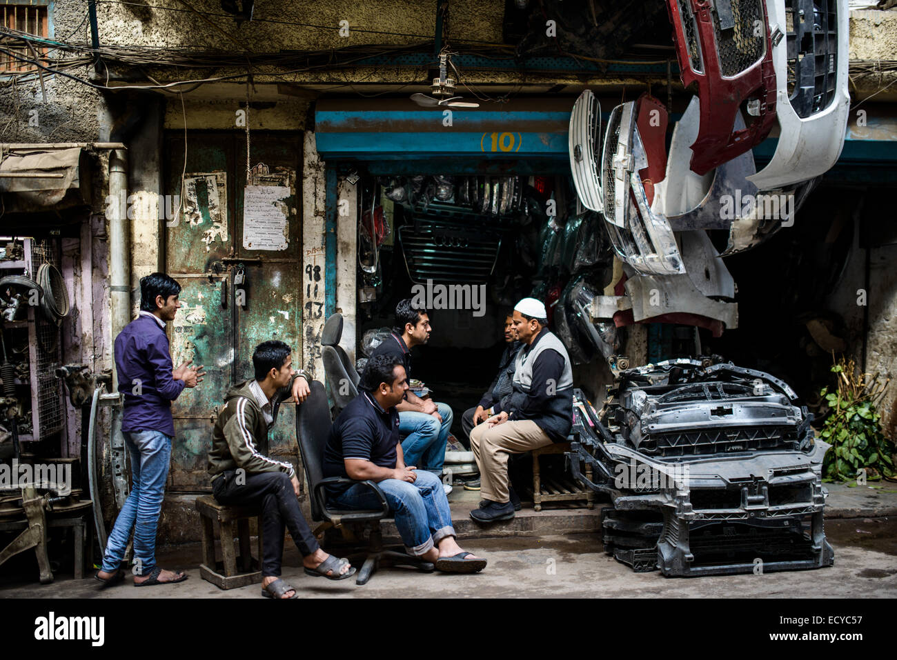 Car spare parts dealers, Old Delhi, India Stock Photo: 76819603 ...