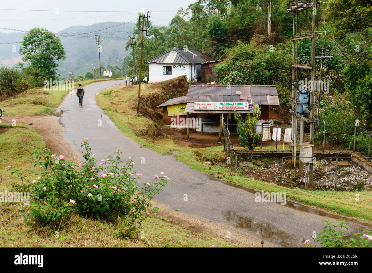 Kerala India Grahams Land With Village Store A Small