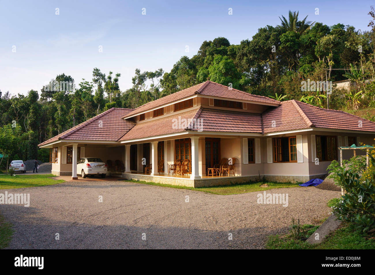 Kerala bungalow images modern house for Design homestay