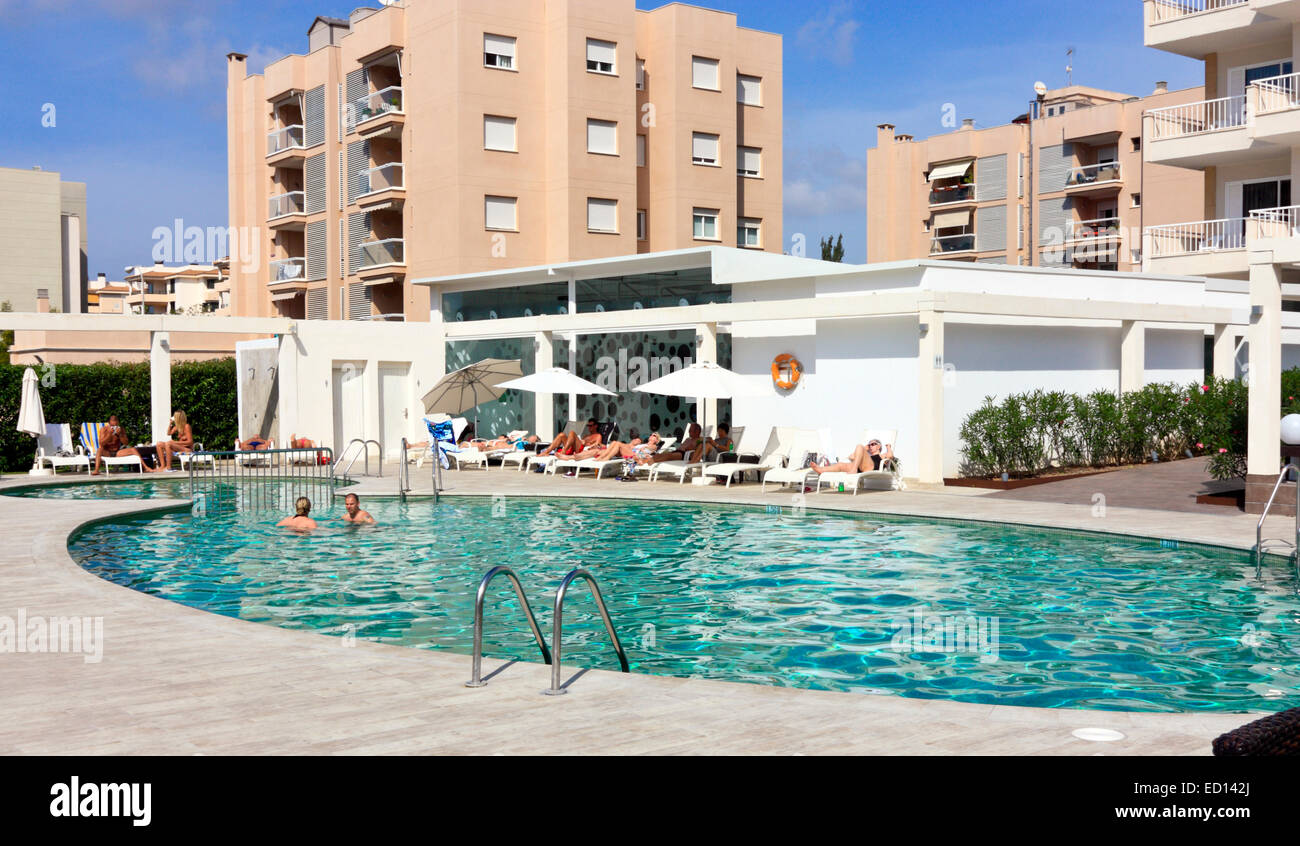 Hotel swimming pool in palma de mallorca balearic islands - Hotels in madrid spain with swimming pool ...
