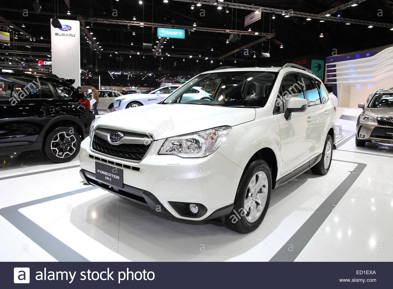 Bangkok november 28 subaru forester 2 8i l car on display at the motor expo