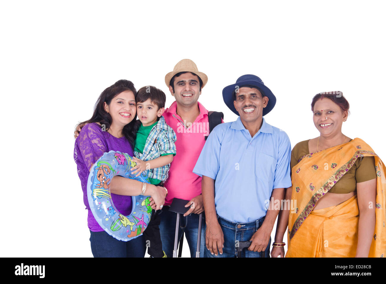 joint family is a happy family #40977332 - cute happy family members faces making circle around heart.