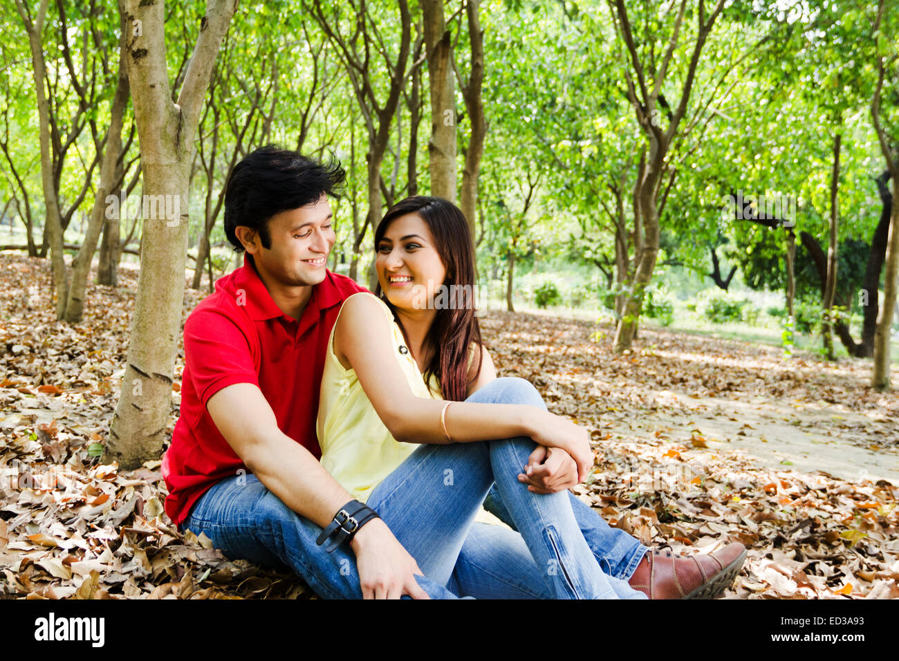 Indian Beautiful Couple Park Romance Stock Photo Royalty Free Image 76905951 Alamy
