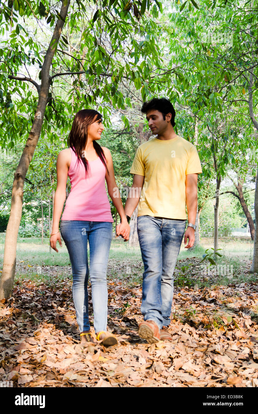 Indian Beautiful Couple Park Romance Stock Photo 76906723 Alamy