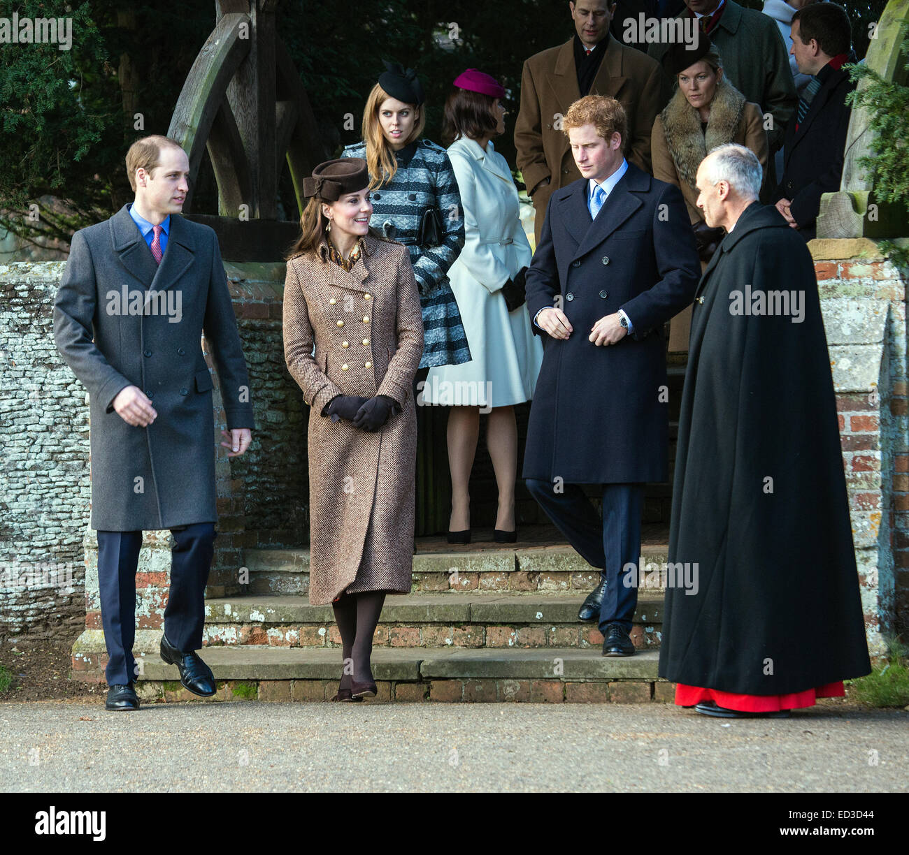 Sandringham, UK. 25th Dec, 2014. The Royal Family attends the ...