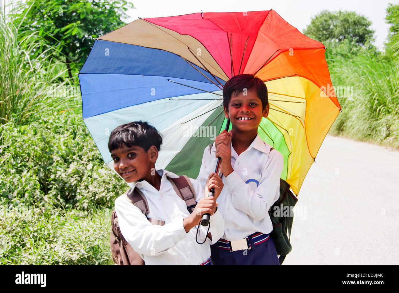 indian children hold umbrellas stock photos u0026 indian