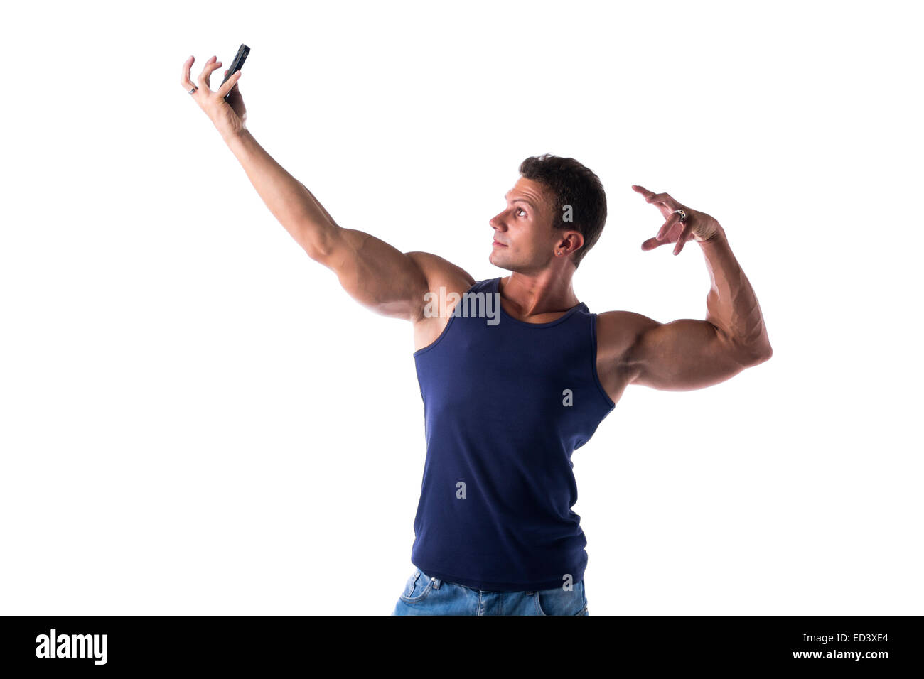 handsome-muscular-young-man-taking-selfi