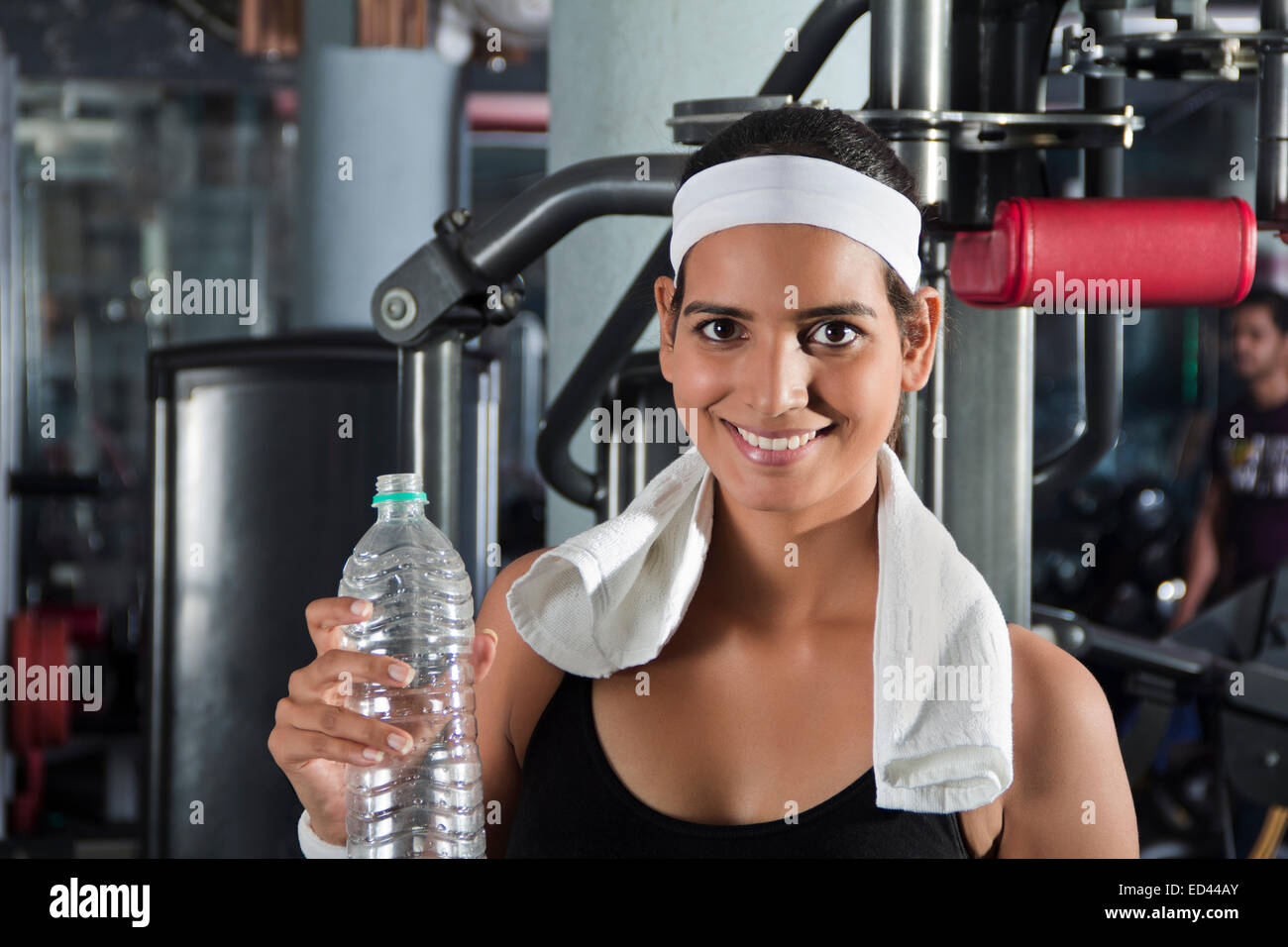 1 indian sports lady gym drinking water stock photo royalty free 1 indian sports lady gym drinking water sciox Choice Image