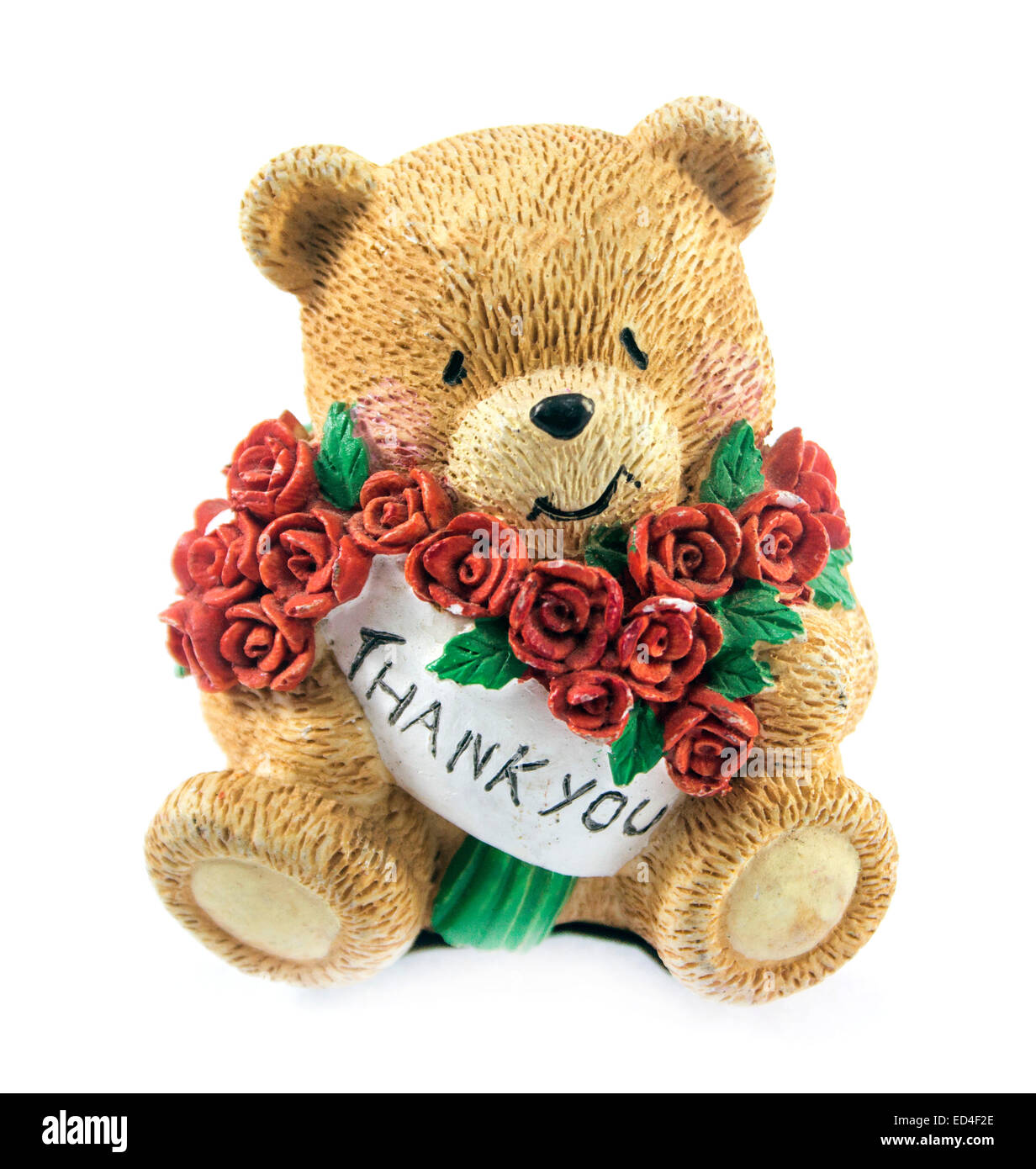cute teddy bear couple holding red rose stock photo royalty free