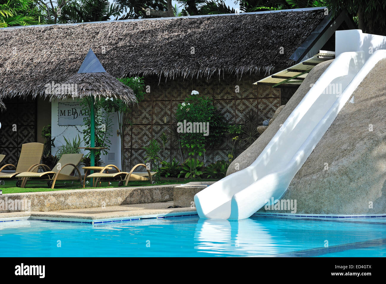 Gardens Grounds Swimming Pool Marcosas Cottages Hotel Moalboal Cebu Stock Photo Royalty Free