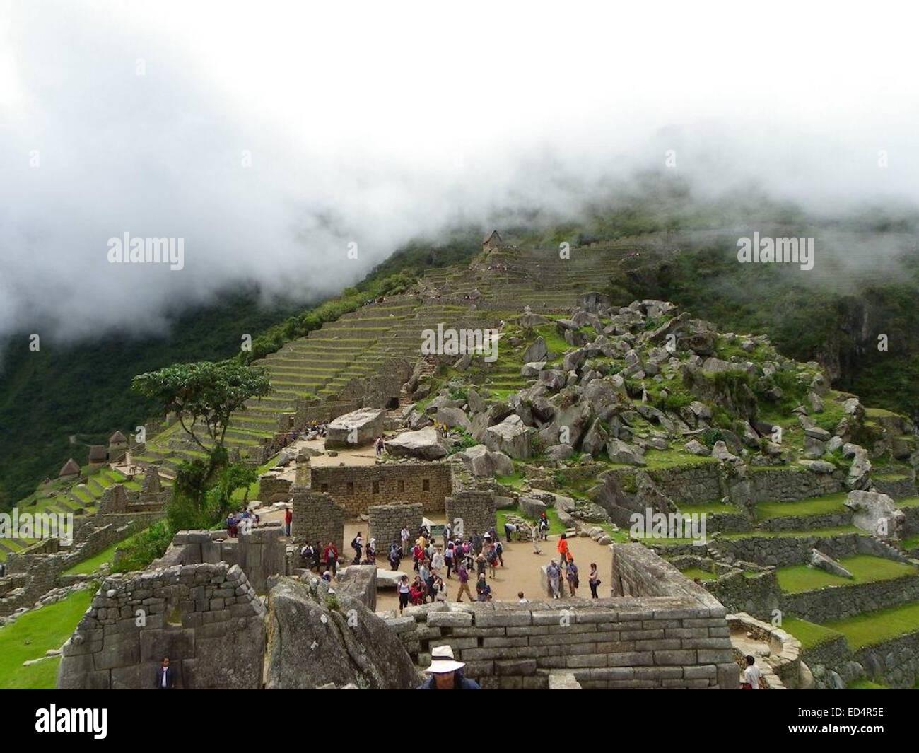 Mountain living near cusco peru royalty free stock photo - Incan Stone Buildings And Terraces At Machu Picchu Cusco Peru