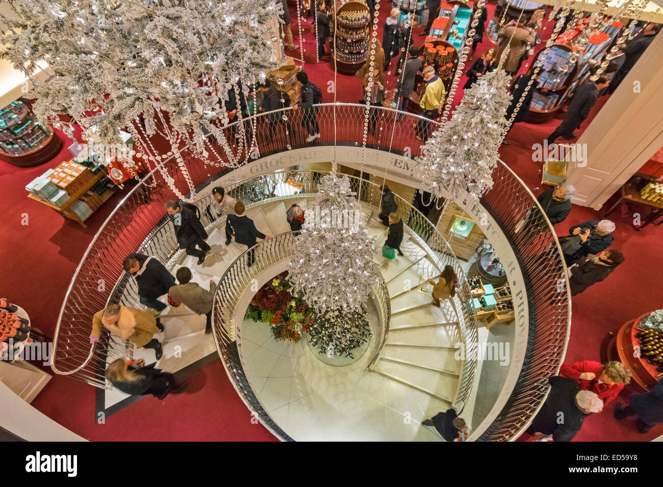 London fortnum and mason the central staircase with silver - Fortnum and mason christmas decorations ...