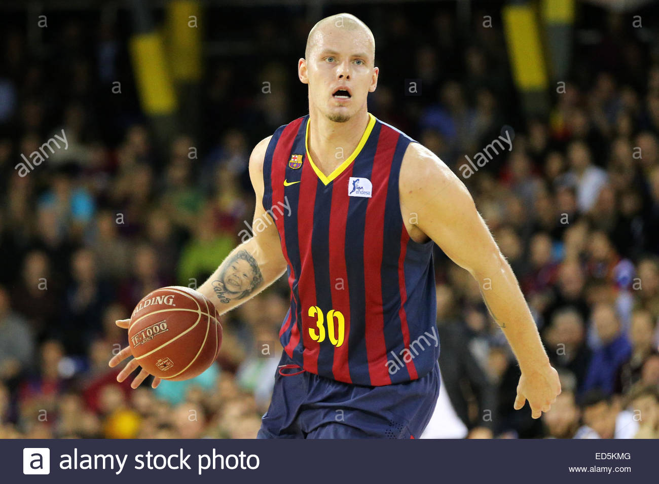 BARCELONA  December28  SPAIN : Maciej Lampe In The Match Between FC  Barcelona And Real Madrid, Forthe Week 13 Of The Endesa League Basketball