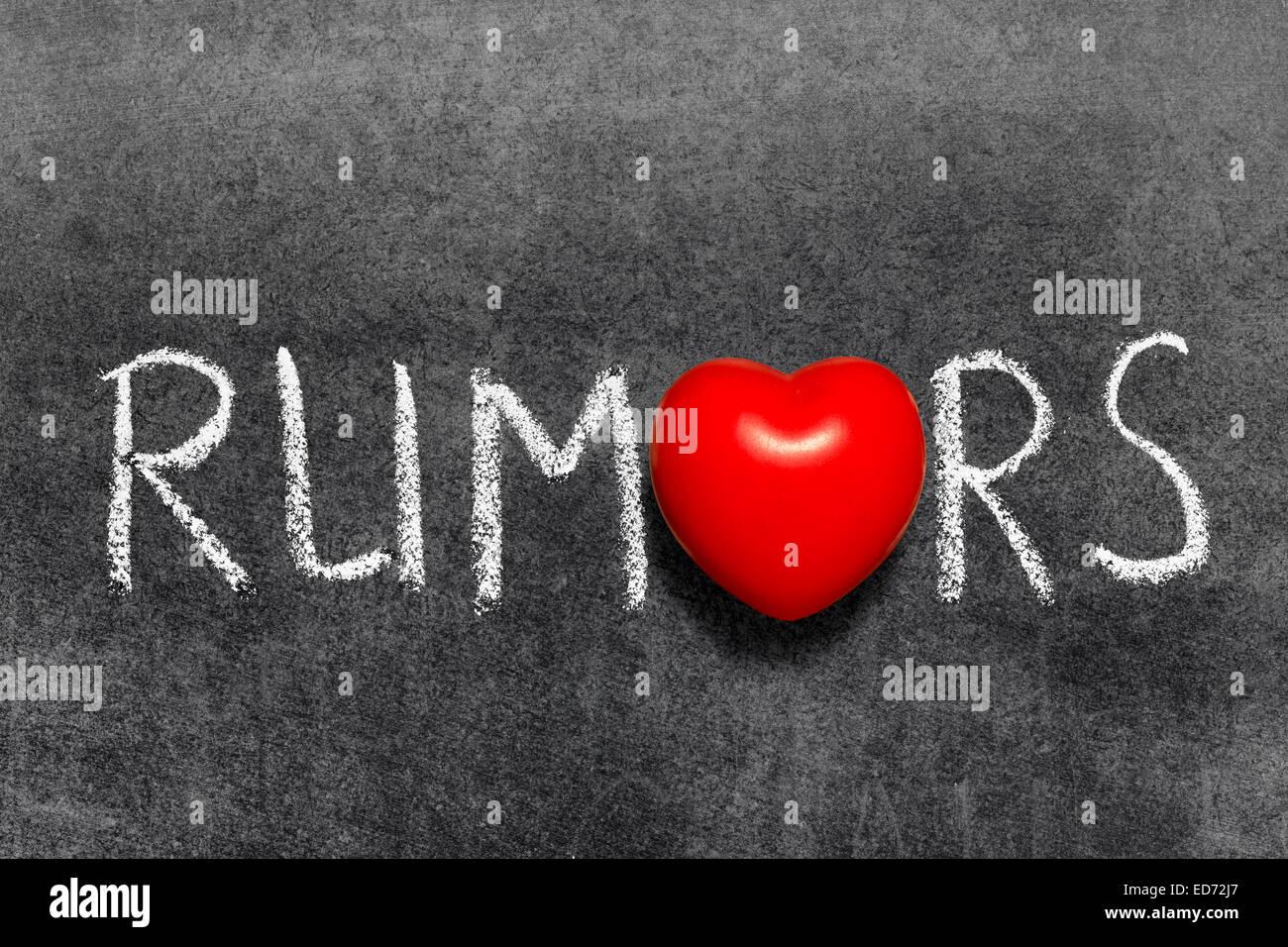 Rumors word handwritten blackboard with heart symbol instead of o rumors word handwritten blackboard with heart symbol instead of o biocorpaavc