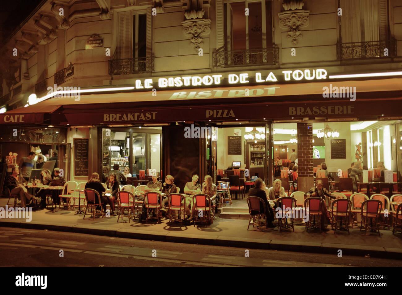 le bistrot de la tour paris restaurant close to the eiffel tower stock photo royalty free. Black Bedroom Furniture Sets. Home Design Ideas
