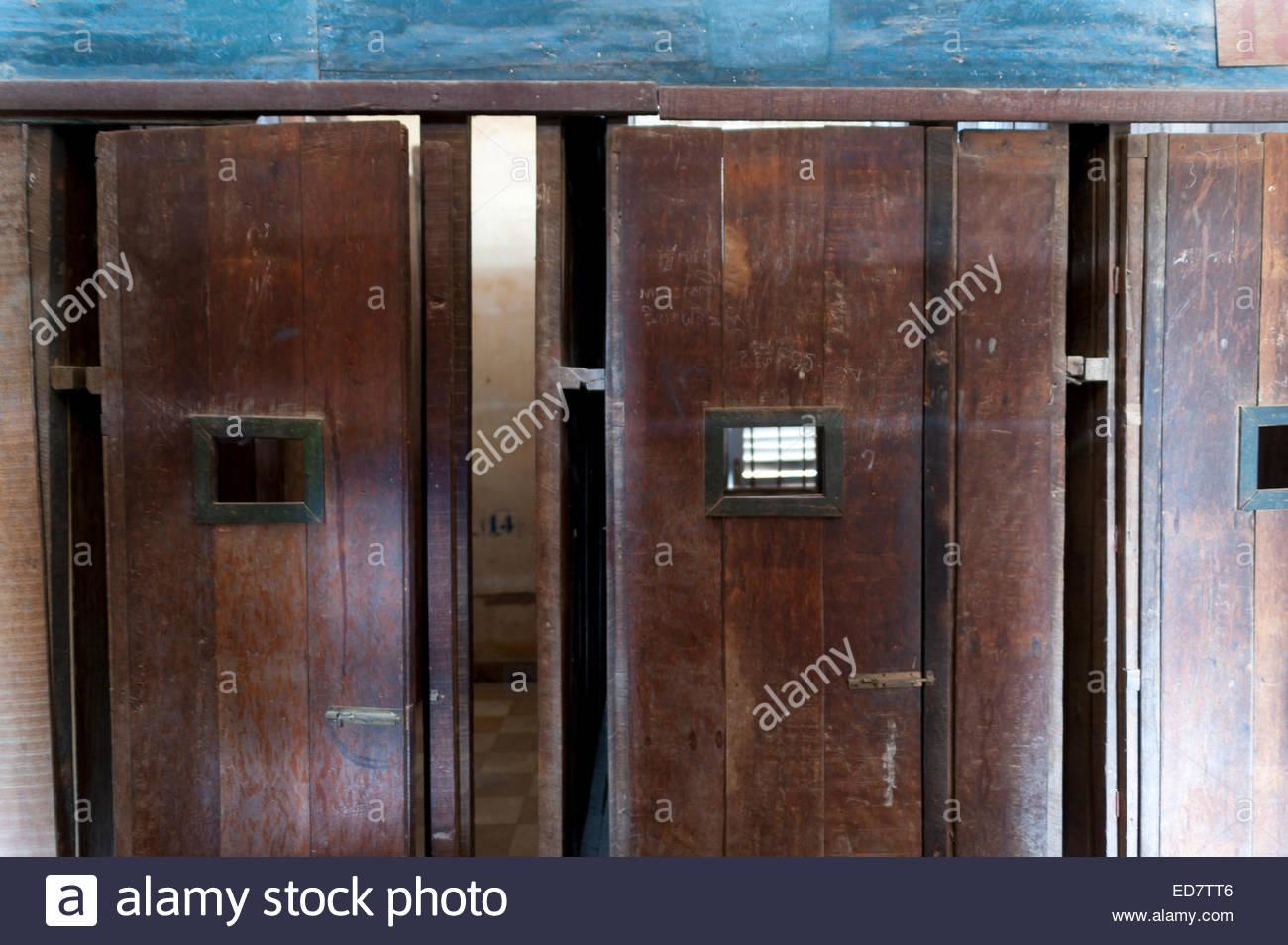Doors inside the S-21 Red Khmer Tuol Sleng prison Phnom Penh Cambodia Indochina Southeast Asia Asia & Doors inside the S-21 Red Khmer Tuol Sleng prison Phnom Penh ... Pezcame.Com