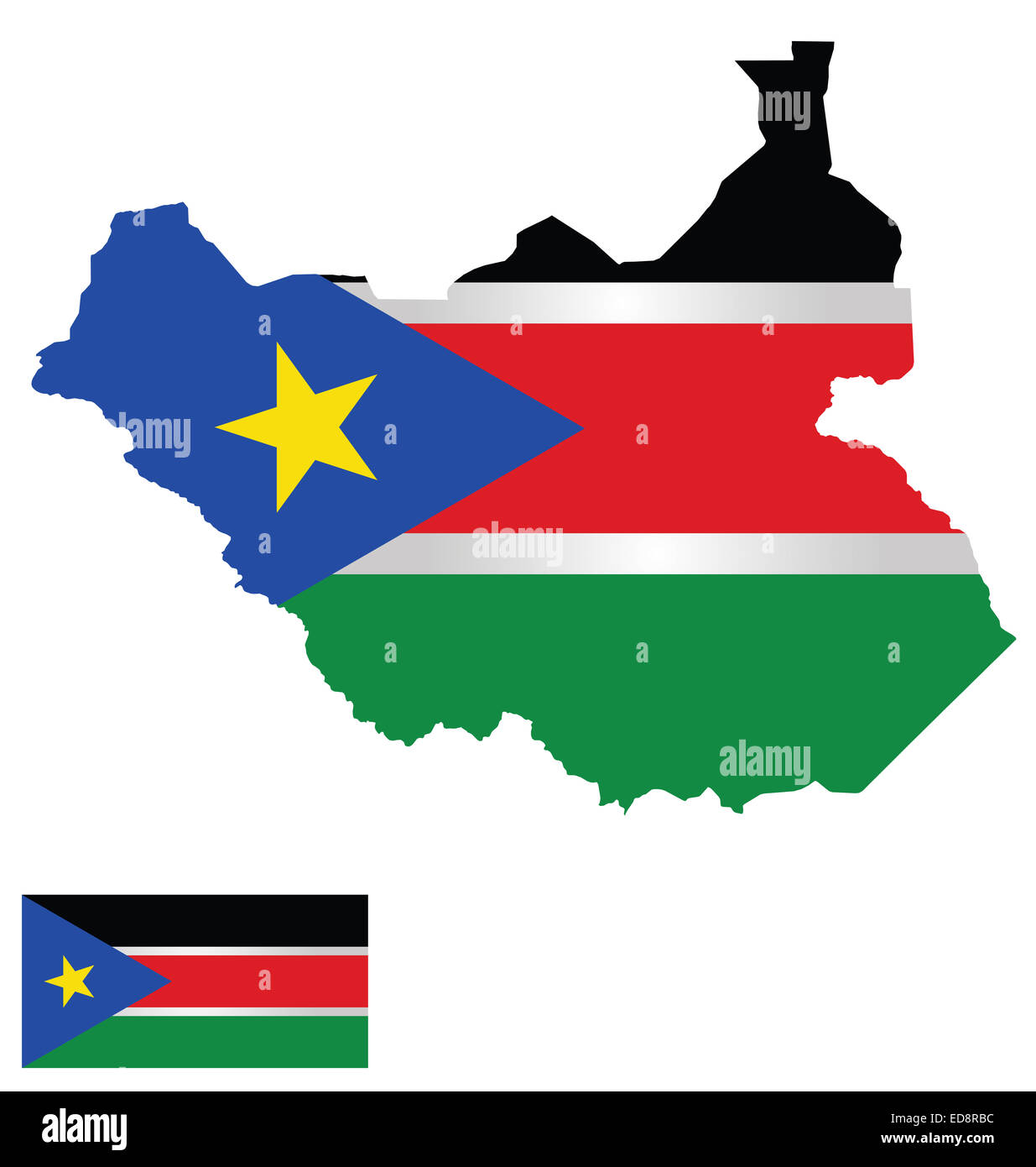 Flag And Coat Of Arms Of The Republic Of South Sudan Overlaid On - Republic of the sudan map