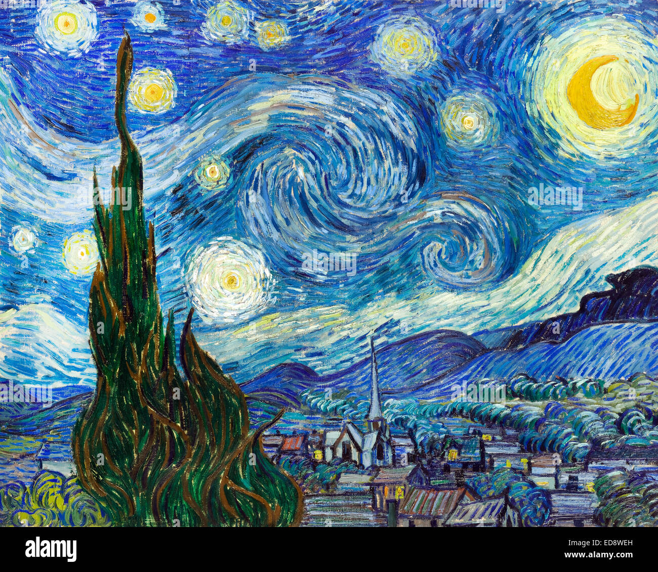 A critique of a starry night over the rhone an oil on canvas by vincent van gogh