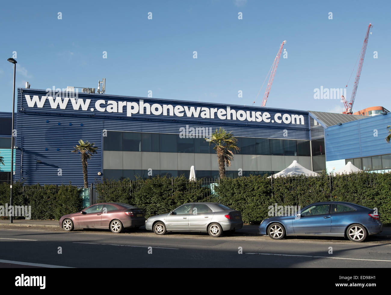 Cars Parked Outside The Corporate Headquarters Of Mobile Phone