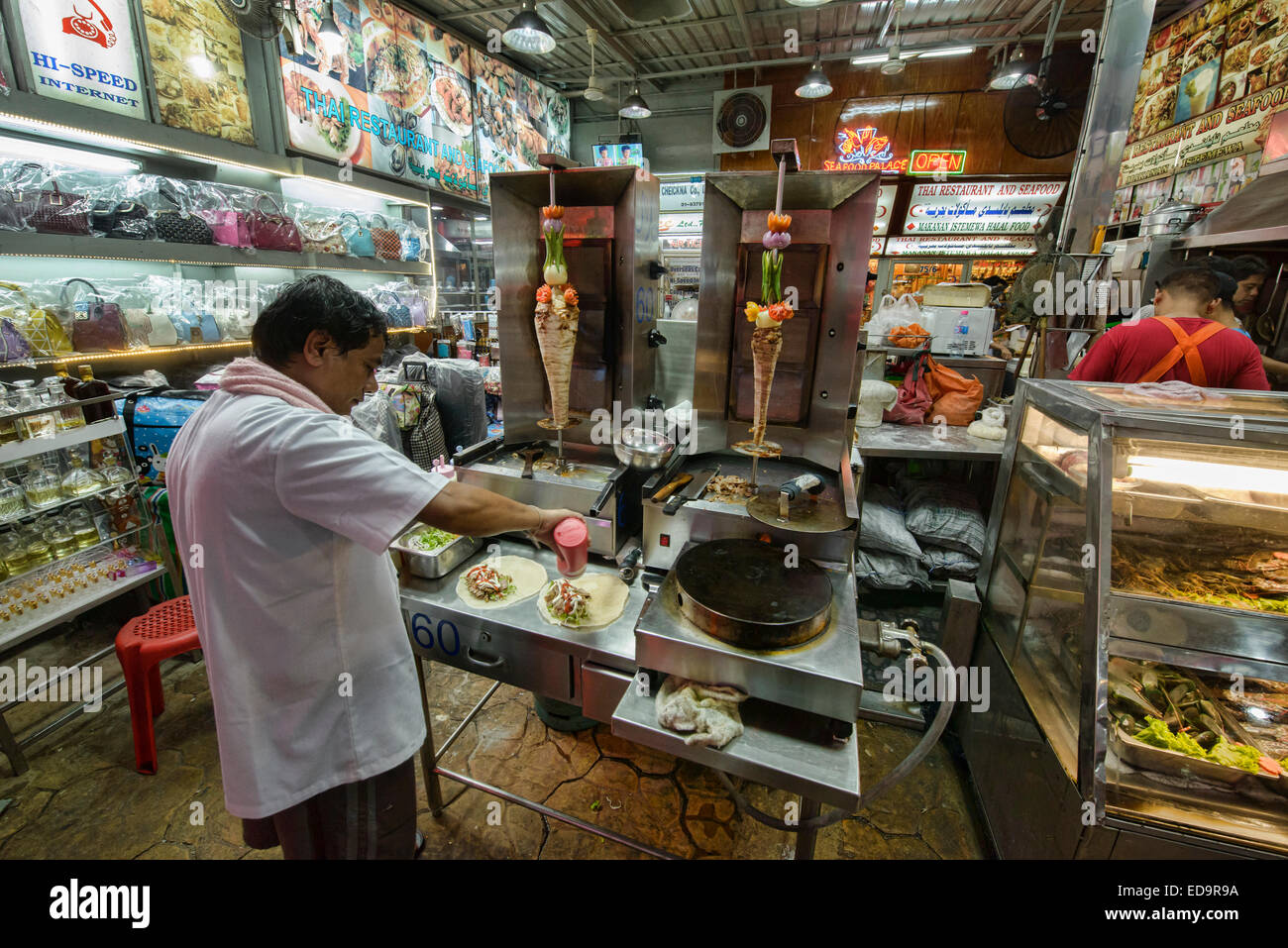Kebab vendor in soi arab bangkok thailand stock photo for Anoush middle eastern cuisine north york