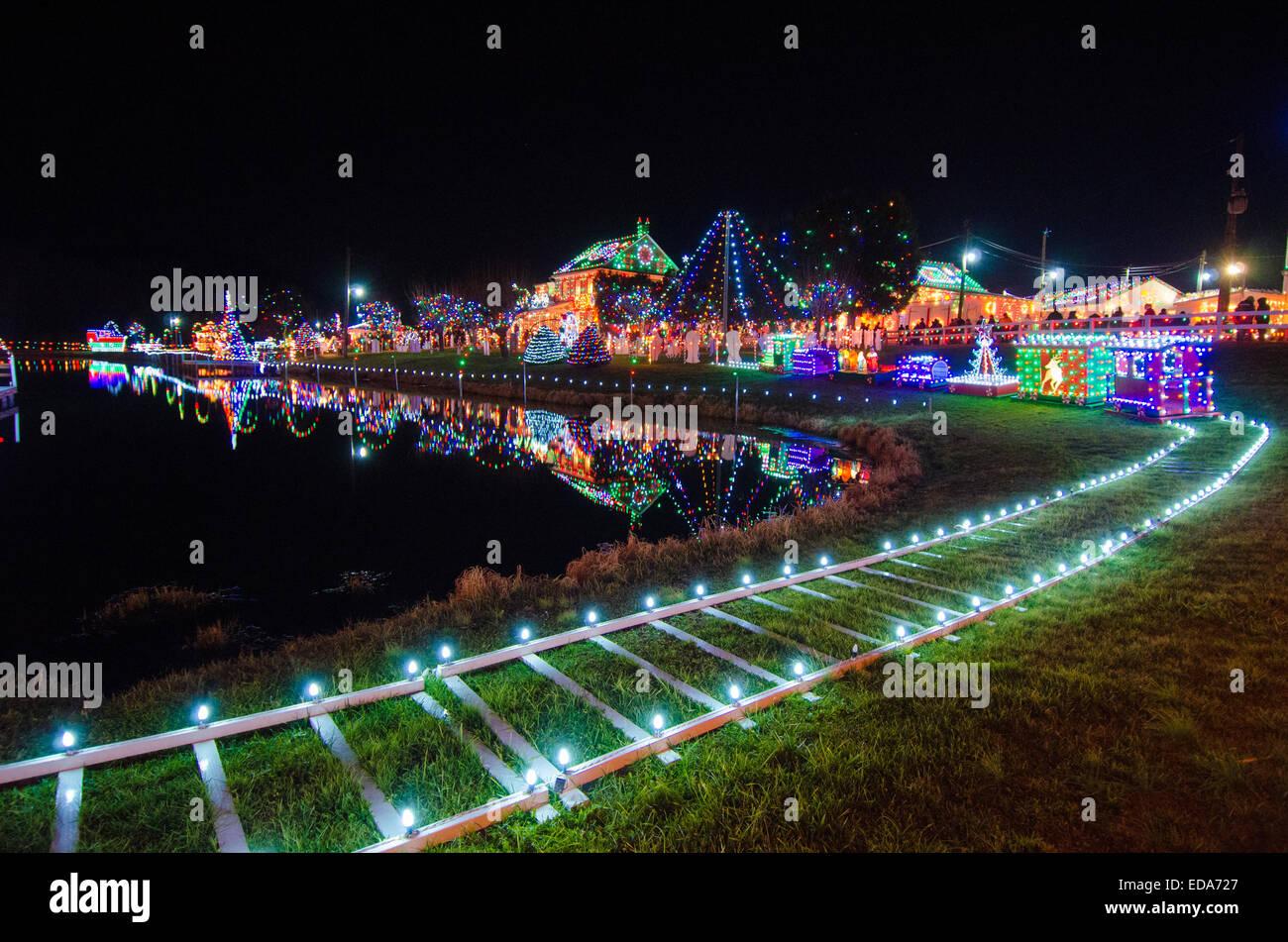 Over a million Christmas lights adorn Koziar's Christmas Village ...