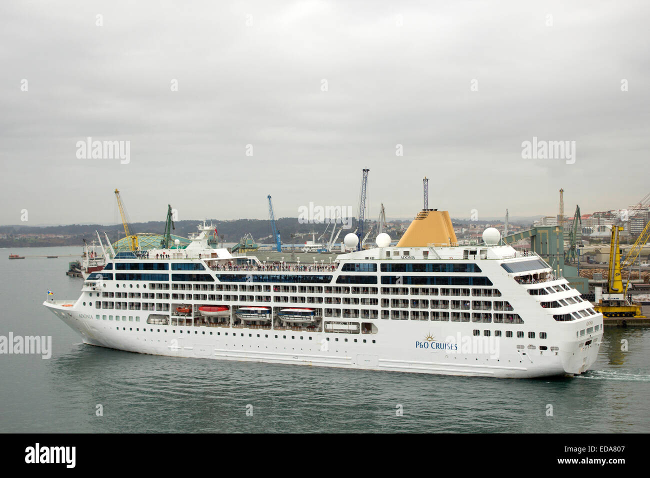 MV Adonia Cruise Ship Of The PO Cruises Fleet In Cadiz Spain - Adonia cruise ship