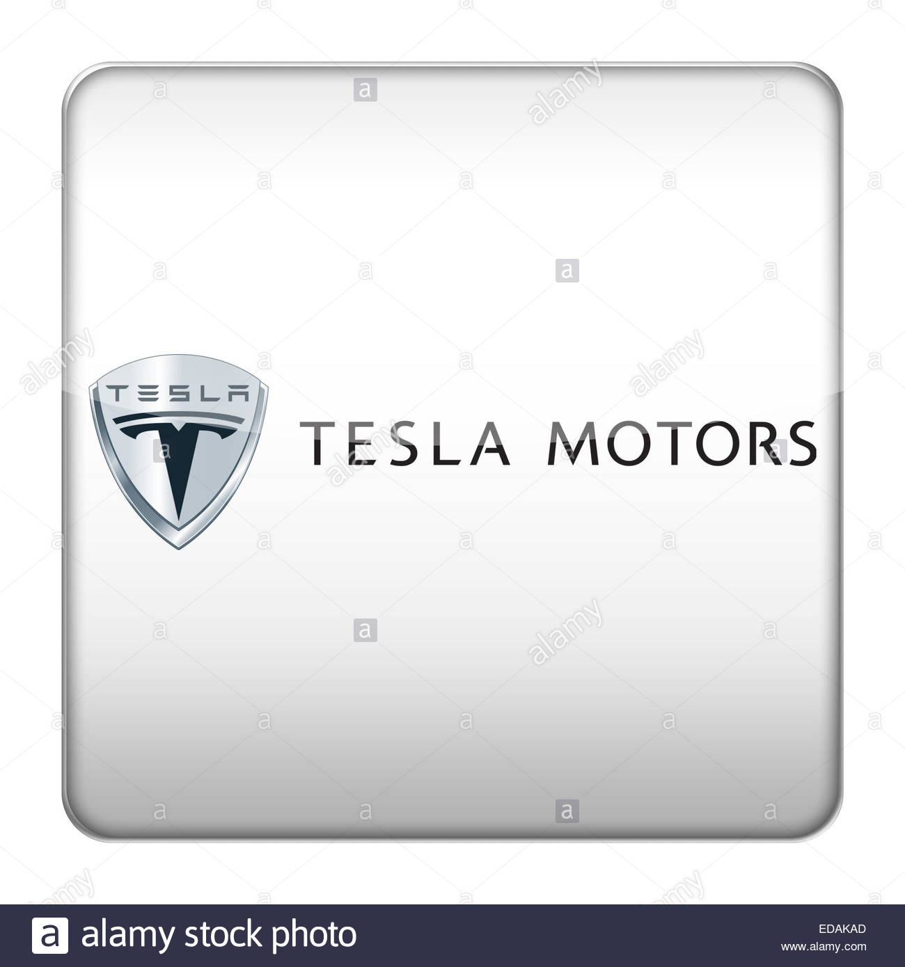 Tesla logo icon stock photo royalty free image 77066709 alamy tesla logo icon buycottarizona Gallery