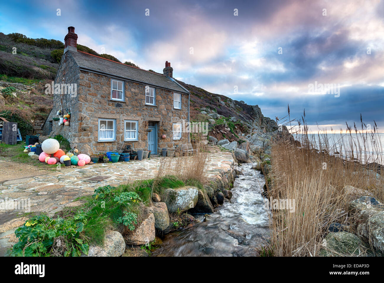 Old fisherman 39 s cottage on the south west coast path at penberth stock photo royalty free image - The fishermans cottage ...
