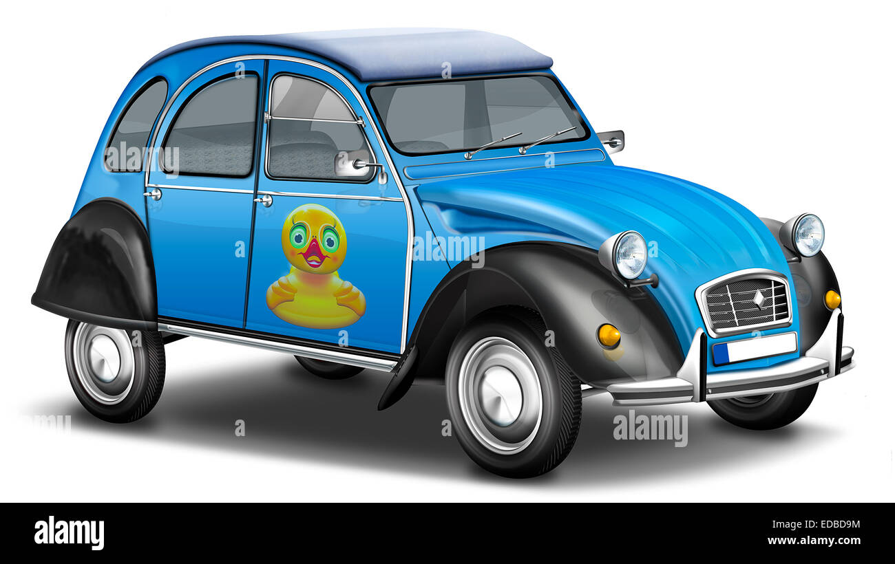 citro n 2cv deux chevaux convertible duck french vintage car stock photo royalty free. Black Bedroom Furniture Sets. Home Design Ideas