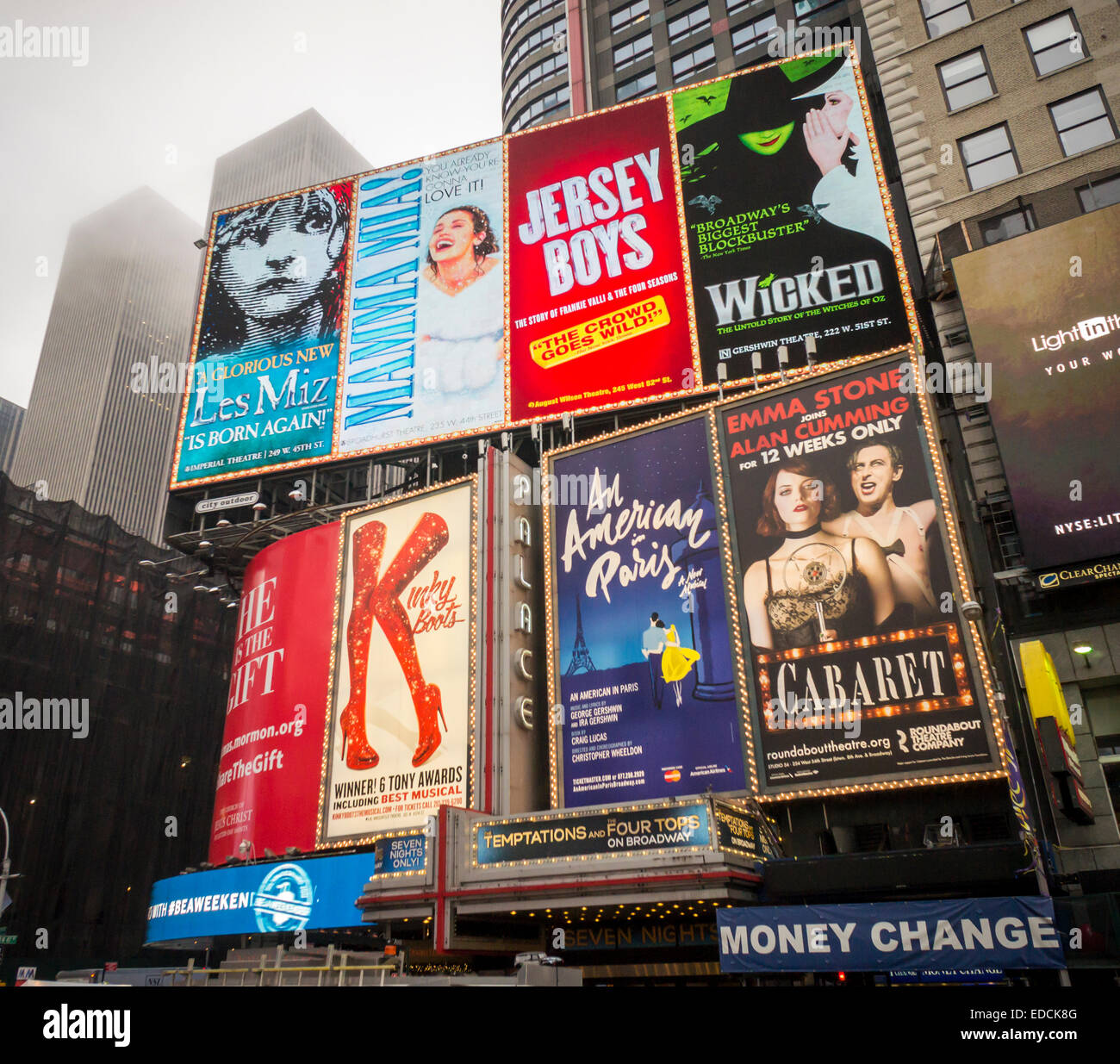 Advertising In Times Square In New York For Broadway Plays