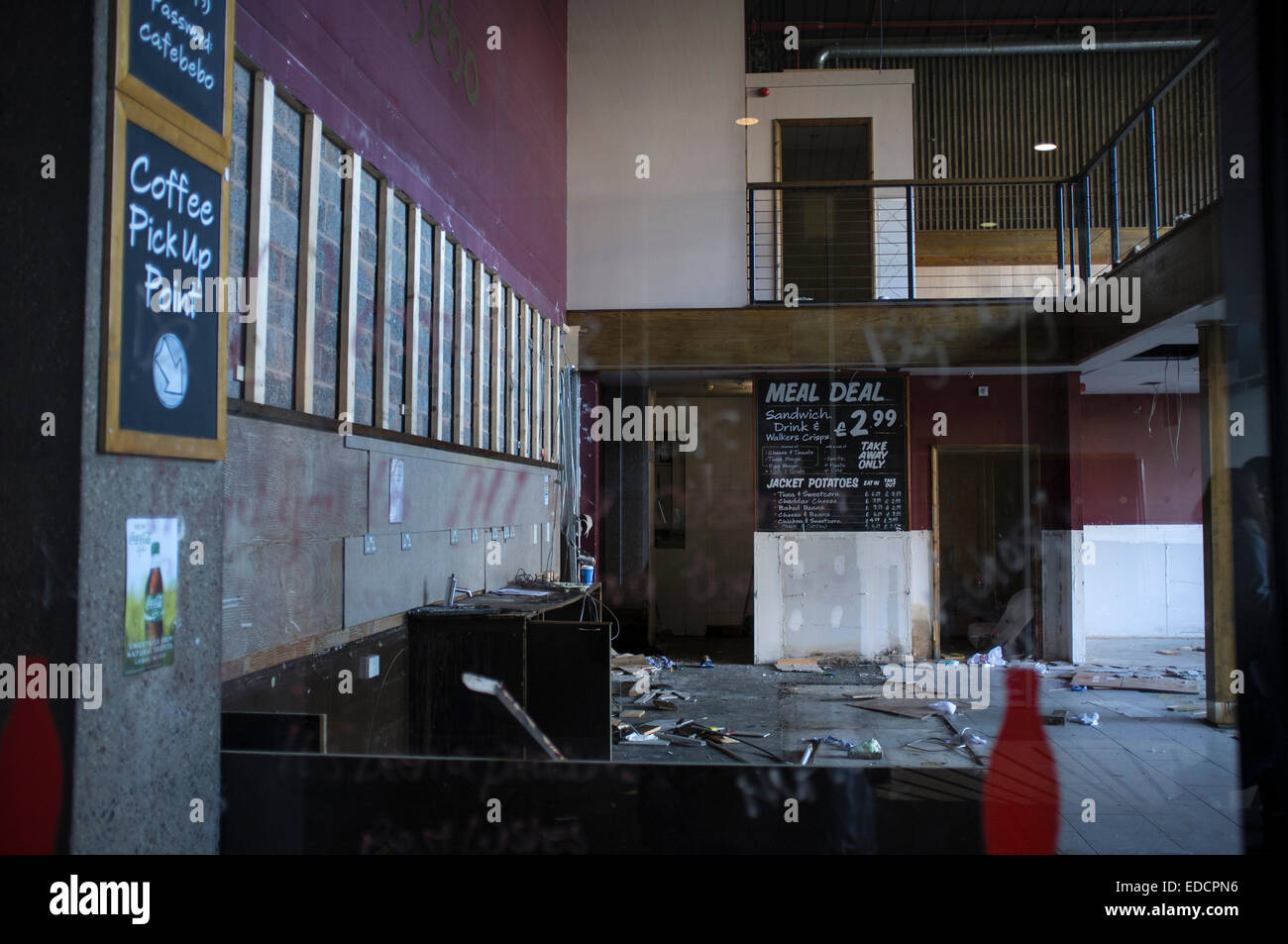 Interior Section Of Paradise Forum Emptied And Cleared Bebo Cafe Today Marks The Beginning Demolition Program Birmingham Central Library