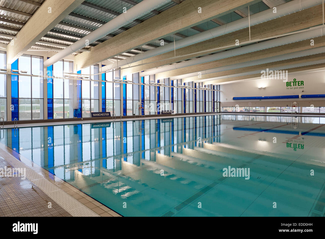 No Swimming Pool : Manchester beswick interior swimming pool no people stock