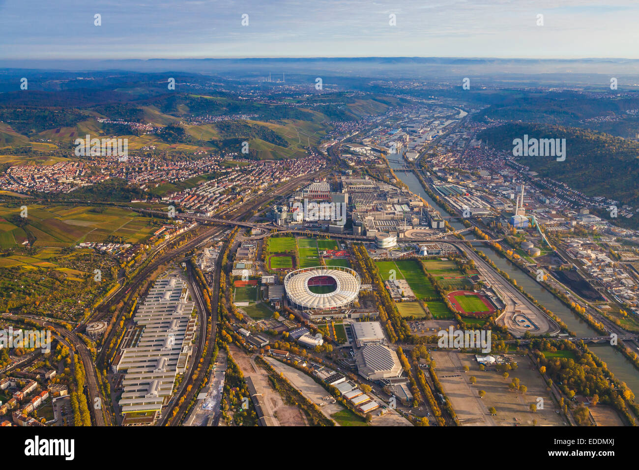 germany baden wuerttemberg stuttgart aerial view of neckarpark stock photo royalty free. Black Bedroom Furniture Sets. Home Design Ideas