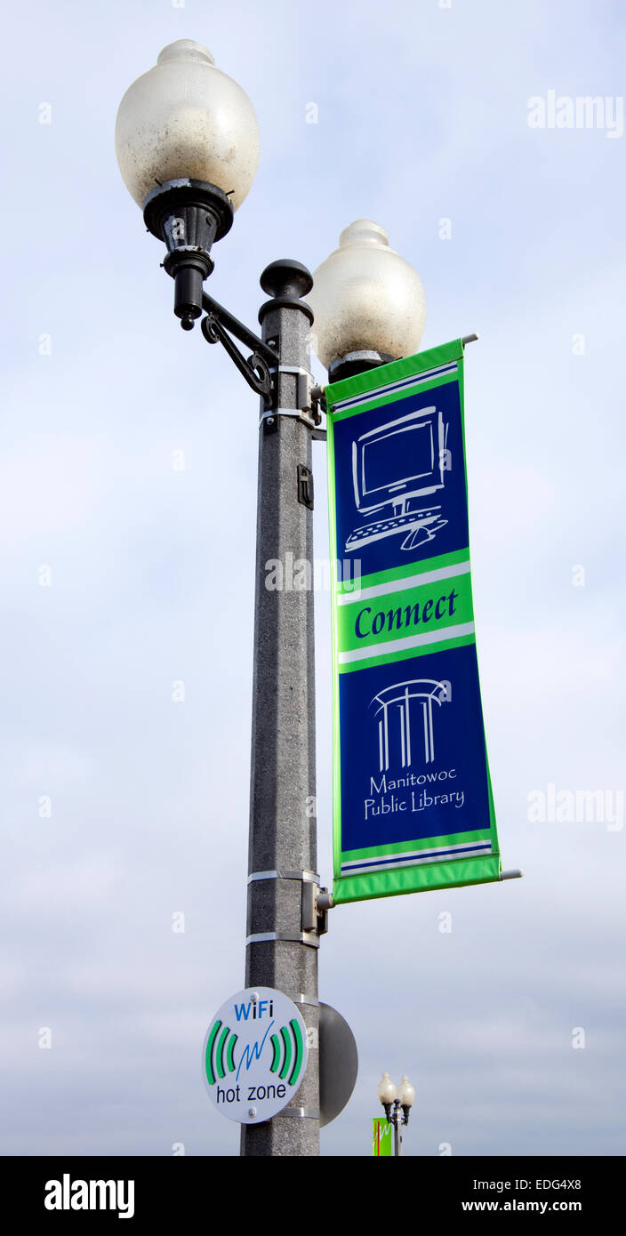 Banner And Sign Promoting Internet Public Access At Manitowoc ...