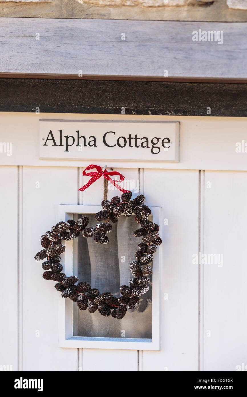 White front door with heart shaped wreath decoration hanging stock white front door with heart shaped wreath decoration hanging rubansaba